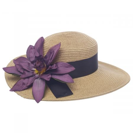 Water Lily Toyo Straw Boater Hat alternate view 5