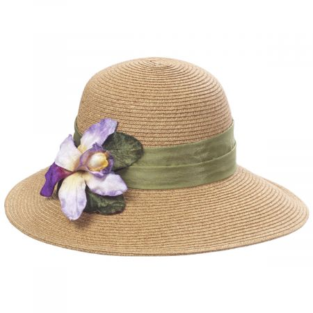 Toucan Collection Orchid Toyo Straw Sun Hat