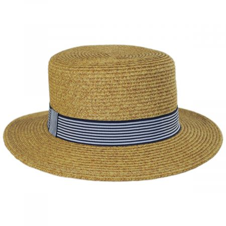ded5fbaabf37b5 Straw Boater Hat at Village Hat Shop
