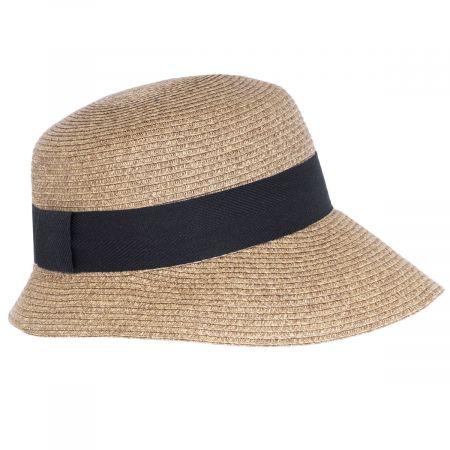Asymmetrical Brim Toyo Straw Cloche Hat alternate view 5