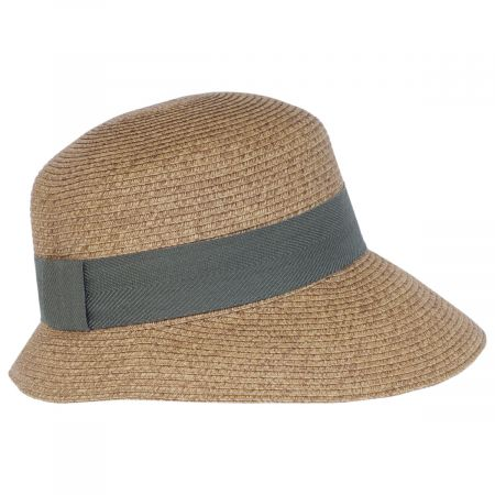 Asymmetrical Brim Toyo Straw Cloche Hat alternate view 6
