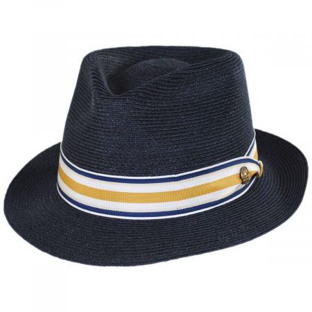6f7f37912e4d5 Navy Trilby Fedora at Village Hat Shop
