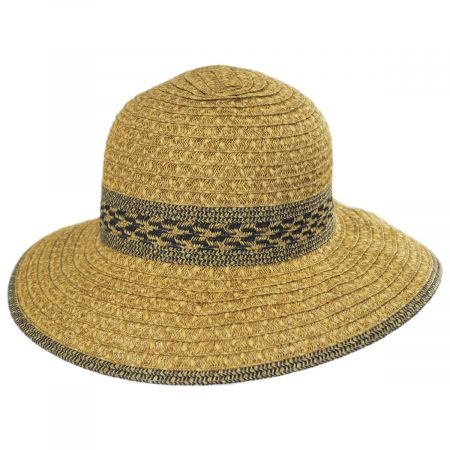 Toucan Collection Mayan Toyo Straw Cloche Hat