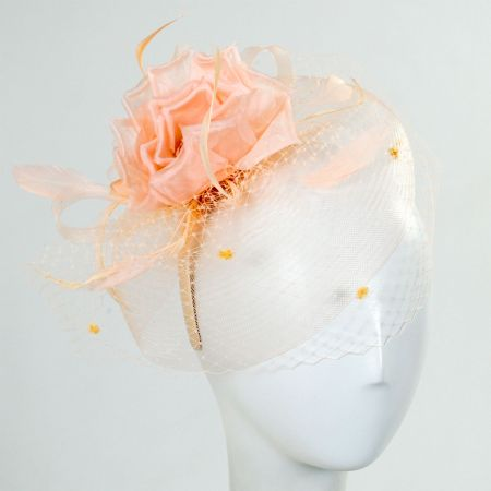 Toucan Collection Silk Rose Fascinator Hat