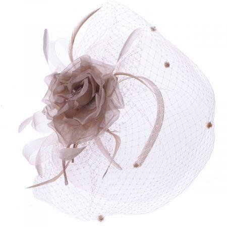 Silk Rose Fascinator Hat alternate view 1