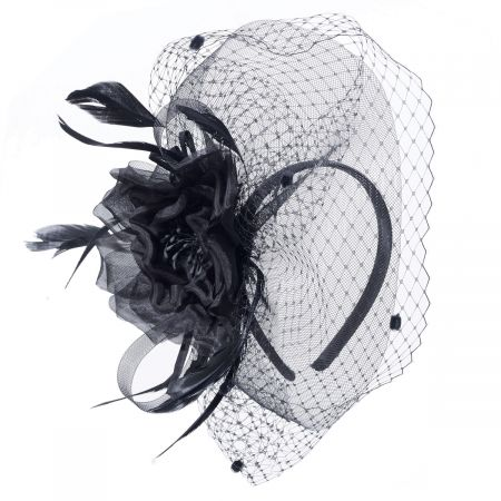 Silk Rose Fascinator Hat alternate view 2