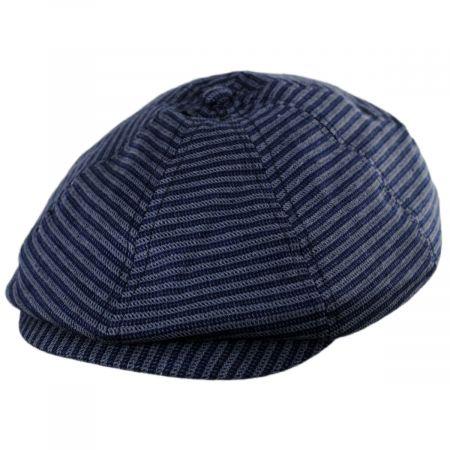 Brood Stripe Cotton Blend Newsboy Cap alternate view 1