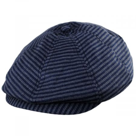 Brixton Hats Brood Stripe Cotton Blend Newsboy Cap