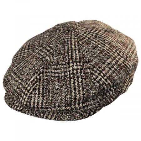 Brood Plaid Wool Blend Newsboy Cap alternate view 13