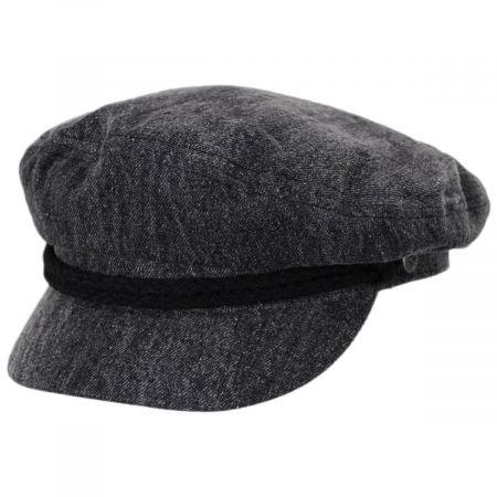 Brixton Hats Acid Wash Denim Fiddler Cap