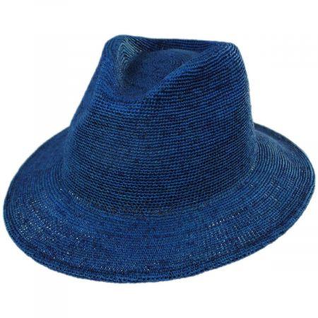 Messer Crochet Raffia Straw Fedora Hat alternate view 9