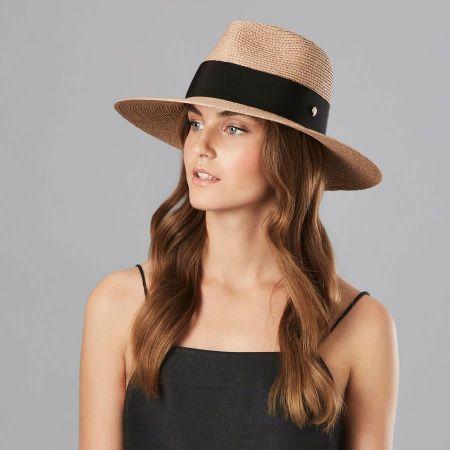 Helen Kaminski Plath Raffia Braid Fedora Hat