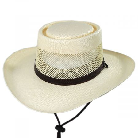 Head 'N Home Madrid Laminated Toyo Gambler Hat