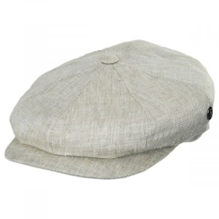 4c06a7e0031ab Linen Newsboy Cap at Village Hat Shop