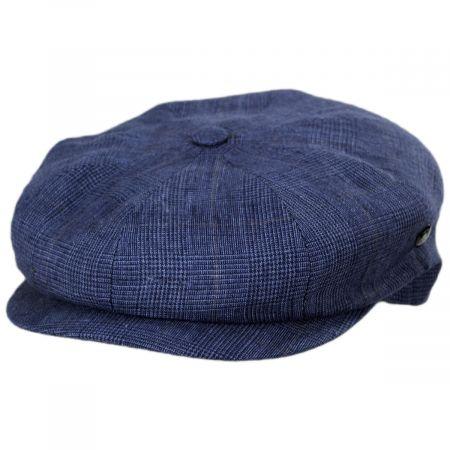 Plaid Linen Newsboy Cap
