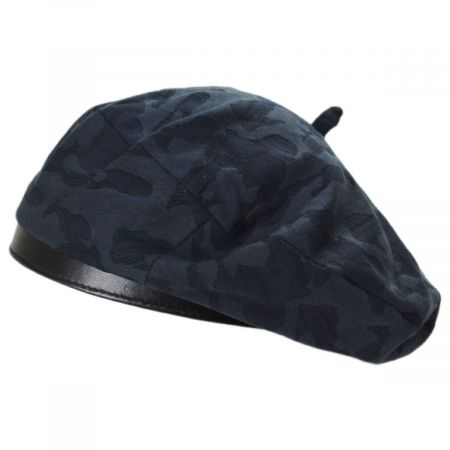 Brixton Hats Audrey II Camo Cotton Blend Beret