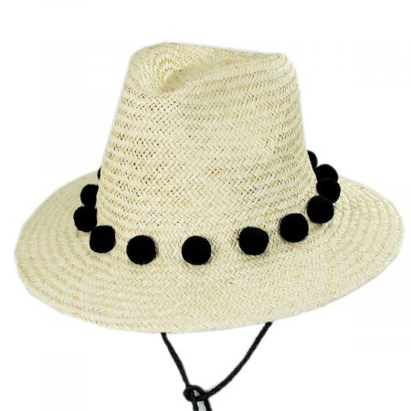 Layover Palm Straw Fedora Hat