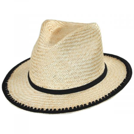 Lera II Palm Straw Fedora Hat alternate view 1