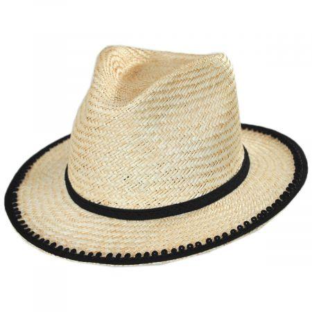 Lera II Palm Straw Fedora Hat