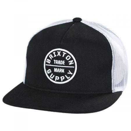 Brixton Hats Oath III Mesh Trucker Snapback Baseball Cap