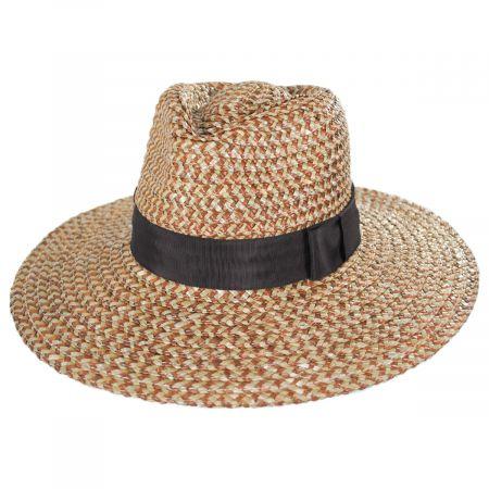 17676d0e6ea5dc Brixton Hats Joanna Straw Fedora Hat Straw Fedoras