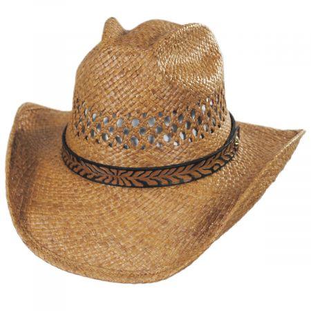 Shady Brady Reid Raffia Straw Western Hat