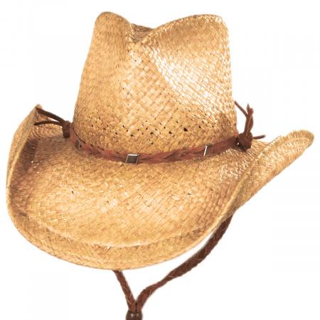 Shady Brady Husky Raffia Straw Western Hat