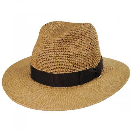 Ricardo Crochet Panama Straw Fedora Hat alternate view 1