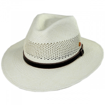 Mayser Hats Pieter Grade 3 Panama Straw Fedora Hat