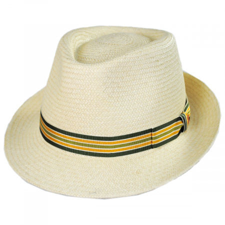 Henrik Grade 3 Panama Straw Fedora Hat alternate view 1