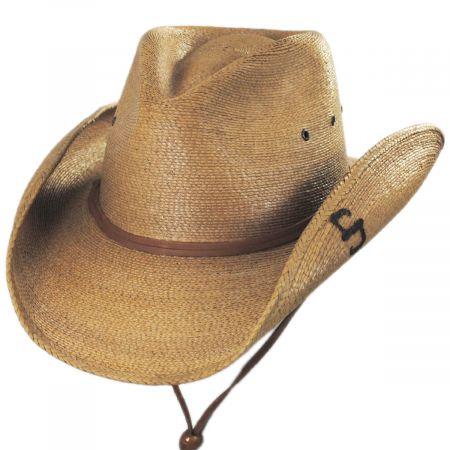 Contoy Palm Straw Western Hat alternate view 5