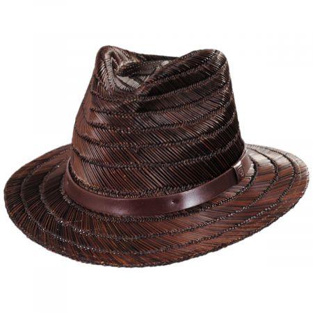 Brixton Hats Messer Rush Straw Fedora Hat