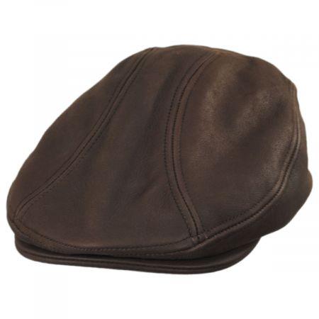 ff9e7414 Leather Driving Cap at Village Hat Shop