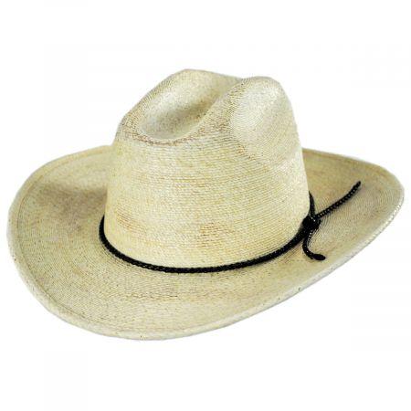Brixton Hats Vasquez Palm Leaf Straw Cattleman Western Hat
