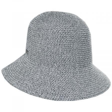 Betmar Gossamer Toyo Straw Blend Cloche Hat