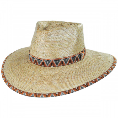 Brixton Hats Joanna Palm Straw Fedora Hat