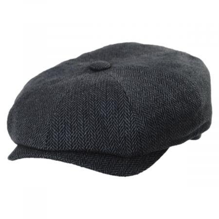 Herringbone Silk Newsboy Cap