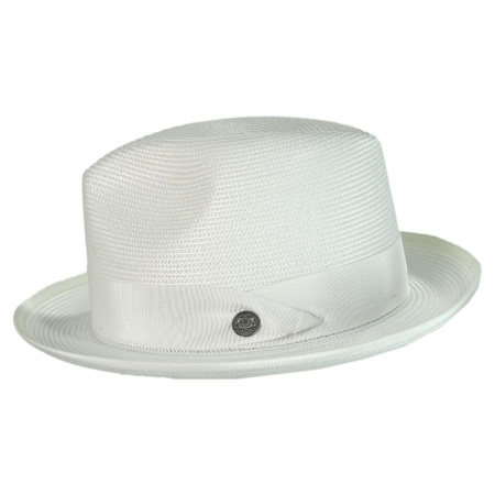 Latte Florentine Milan Straw Fedora Hat alternate view 4