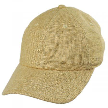 8ac53f24f3f88e Stetson Winder Linen/Cotton Strapback Baseball Cap