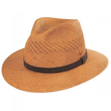 Piero Grade 3 Panama Straw Fedora Hat alternate view 1