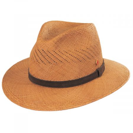 Piero Grade 3 Panama Straw Fedora Hat alternate view 5