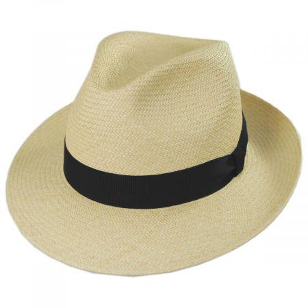 Mayser Hats Torino Grade 3 Panama Straw Fedora Hat