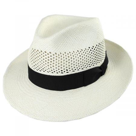 Imperia Grade 2 Panama Straw Fedora Hat alternate view 1