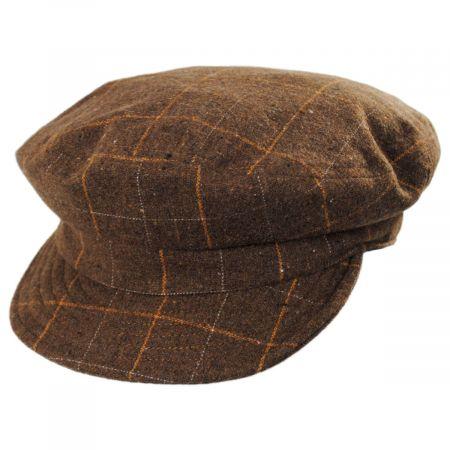 Brixton Hats Unstructured Plaid Fiddler Cap