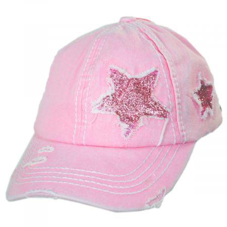 High Ponytail Glitter Star Adjustable Baseball Cap alternate view 10