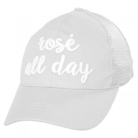 C.C PonyCaps High Ponytail Rose All Day Mesh Adjustable Baseball Cap