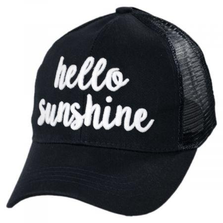 High Ponytail Hello Sunshine Mesh Adjustable Baseball Cap alternate view 1