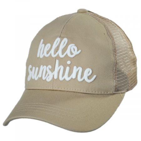 High Ponytail Hello Sunshine Mesh Adjustable Baseball Cap alternate view 6