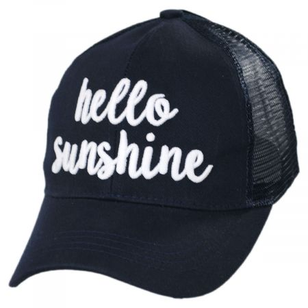High Ponytail Hello Sunshine Mesh Adjustable Baseball Cap alternate view 7