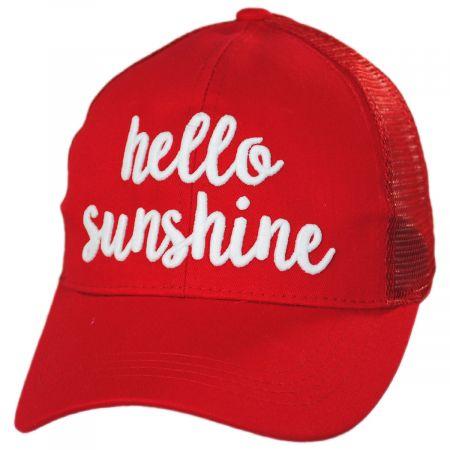High Ponytail Hello Sunshine Mesh Adjustable Baseball Cap alternate view 11